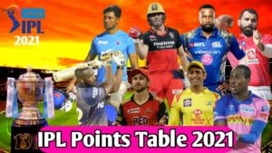 IPL points table 2021 Live