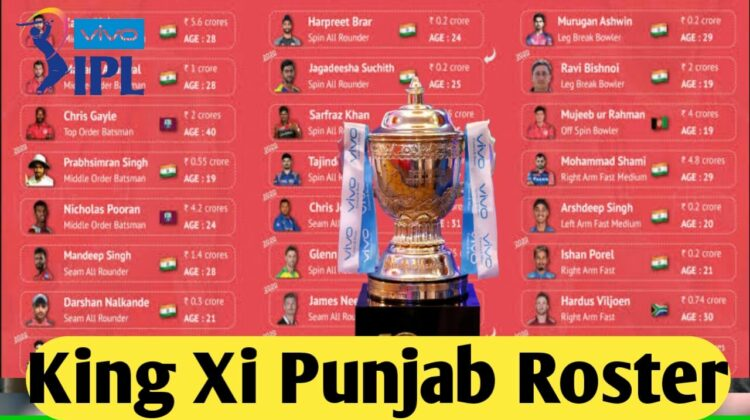 Kings Xi Punjab Roster (Overview)