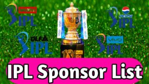 IPL sponsors list from 2008 to 2021